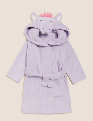 Fleece Unicorn Dressing Gown (1-7 Yrs)