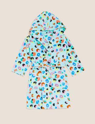 Fleece Leopard Print Dressing Gown (12 Mths - 7 Yrs)