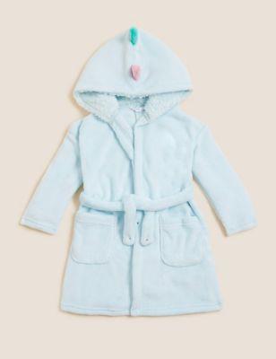 Fleece Dinosaur Hooded Dressing Gown (1-7 Yrs)