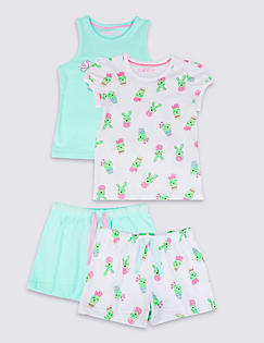 T86/4778: 2 Pack Pure Cotton Short Pyjamas (9 Months - 5 Years)