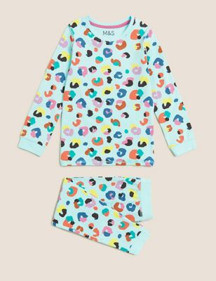 Cotton Leopard Pyjamas (1-7 Yrs)