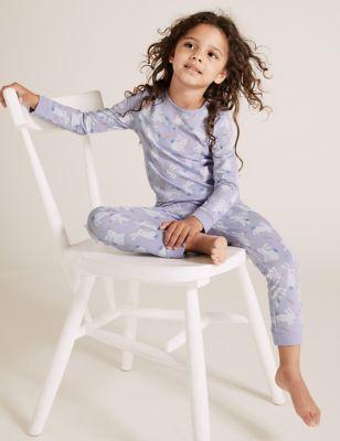 Cotton Bunny Print Pyjamas (1-7 Yrs)
