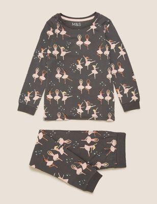 Cotton Ballerina Pyjama Set (1-7 Yrs)