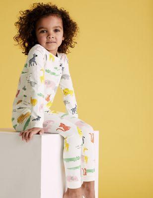 Cotton Animal Print Pyjama Set (1-7 Yrs)
