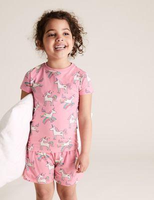 Cotton Unicorn Short Pyjama Set (1-7 Yrs)