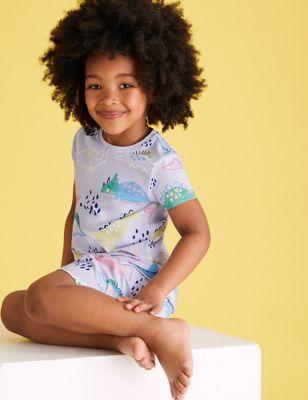 Cotton Dinosaur Short Pyjama Set (1-7 Yrs)