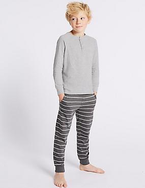 Cotton Rich Pyjamas (1-16 Years), GREY MIX, catlanding
