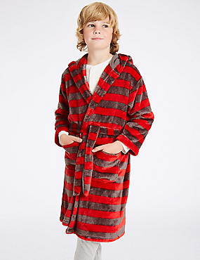 Striped Dressing Gown (3-16 Years), GREY MIX, catlanding