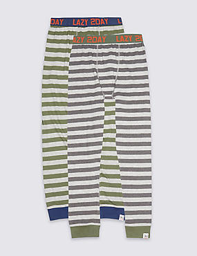 2 Pack Pyjama Bottoms (7-16 Years), MULTI, catlanding