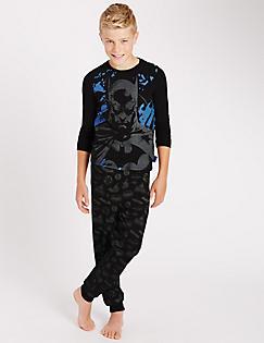 T86/5171C: Cotton Rich Batman™ Pyjamas (6-16 Years)