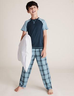 2 Pack Cotton Checked Pyjama Sets (6-16 Yrs)
