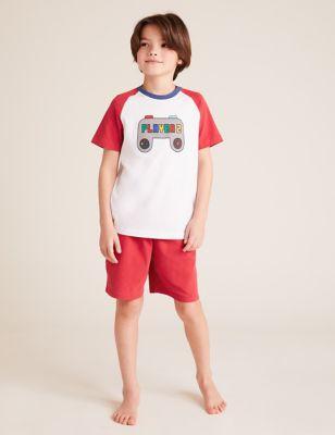 Mini Me Gamer Print Short Pyjama Set (1-10 yrs)