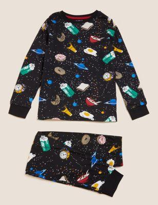 Pure Cotton Space Pyjamas (6-16 Yrs)