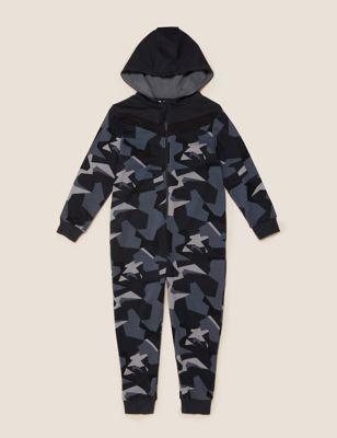 Cotton Camouflage Onesie (6-16 Yrs)