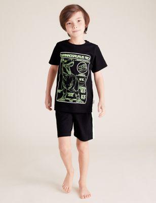 NHM™ Dinosaur Short Pyjama Set (6-16 Yrs)