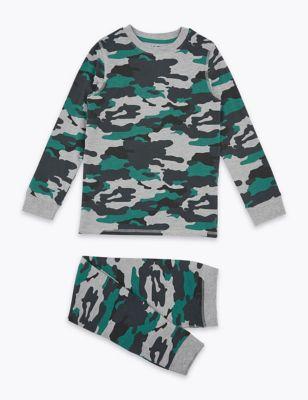 Cotton Rich Camouflage Pyjama Set (7-16 Yrs)