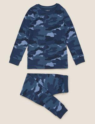 Cotton Camoflauge Pyjama Set (7-16 Yrs)