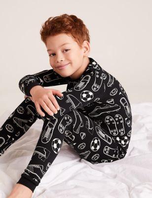 Cotton Football Pyjama Set (7-16 Yrs)