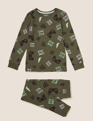 Cotton Gaming Pyjama Set (7-16 Yrs)