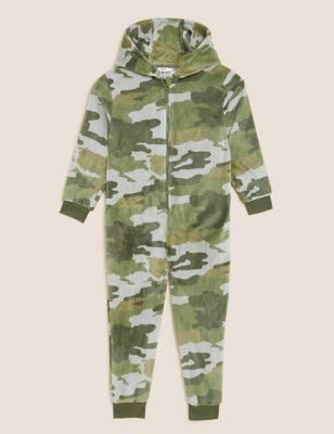Fleece Camouflage Onesie (6-16 Yrs)