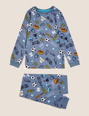 Cotton Football Pyjamas (7-16 Yrs)