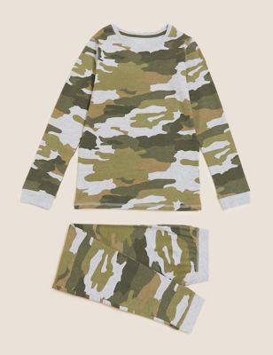 Cotton Camouflage Pyjamas (7-16 Yrs)
