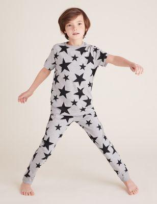 2pk Cotton Star Pyjama Sets (6-16 Yrs)