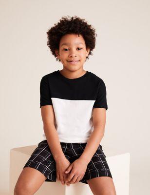 2pk Pure Cotton Checked Short Pyjama Sets (6-16 Yrs)