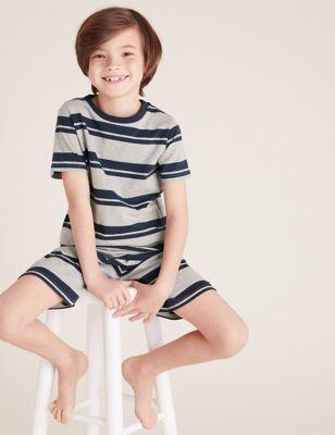2pk Pure Cotton Striped Short Pyjama Sets (6-16 Yrs)