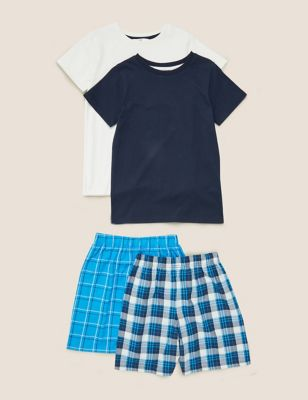 2pk Pure Cotton Short Pyjama Set (6-16 Yrs)