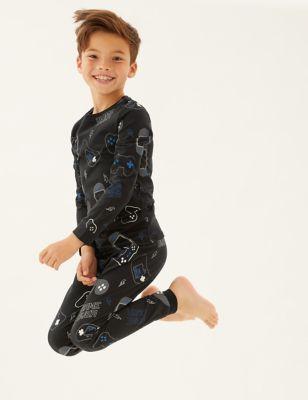 Cotton Gaming Print Pyjamas (7-16 Yrs)