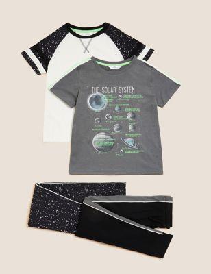 2pk Cotton Space Pyjama Sets (6-16 Yrs)