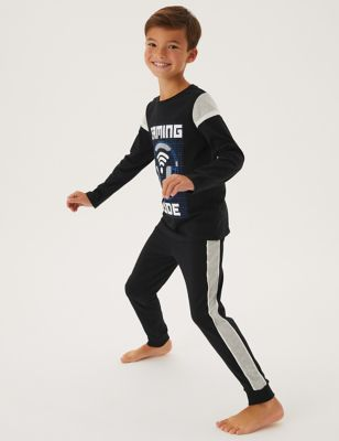 2pk Cotton Gaming Print Pyjama Sets (6-16 Yrs)