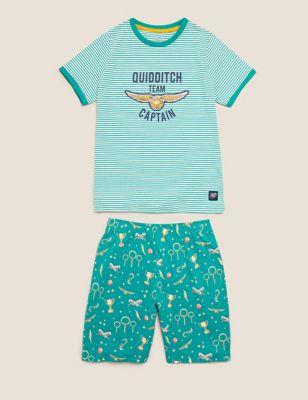 Harry Potter™ Quidditch Short Pyjama Set (6-16 Yrs)