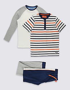 T86/5645: 2 Pack Crew Neck Pyjamas (1-16 Years)