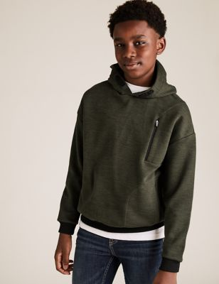 Cotton Borg Lined Hoodie (6-16 Yrs)