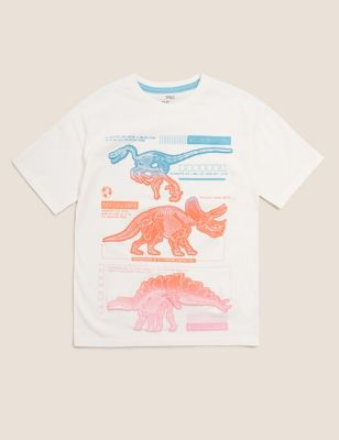 Pure Cotton NHM™ Dinosaur T-Shirt (6-16 Yrs)