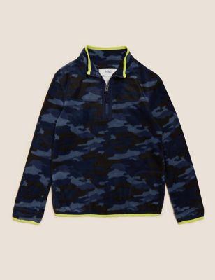 Camouflage Zip Fleece Top (2-16 Yrs)