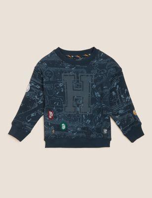 Harry Potter™ Hogwarts Cotton Sweatshirt (2-16 Yrs)
