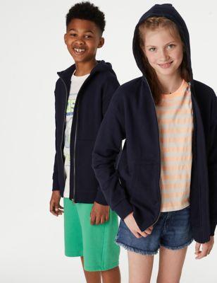Cotton Zip Through Hooded (6-16 Yrs)