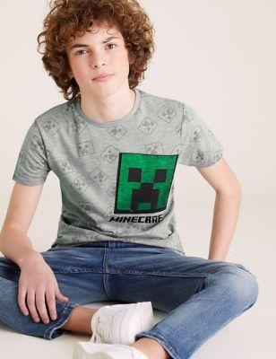 Cotton Minecraft™ T-Shirt (6-16 Yrs)