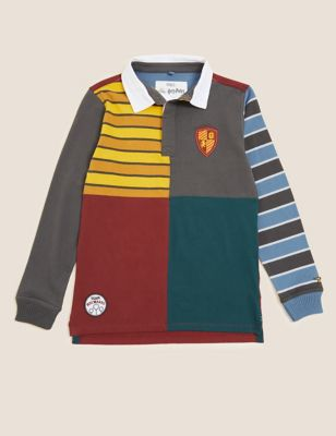Pure Cotton Harry Potter™ Rugby Shirt (2-16 Yrs)