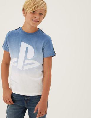Pure Cotton PlayStation™ Logo T-Shirt (6-16 Yrs)