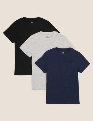 3pk Adaptive Pure Cotton T-Shirts (2-14 Yrs)