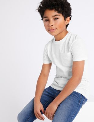 Cotton T-Shirt with Pocket (6-16 Yrs)
