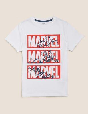 Pure Cotton Marvel™ Print T-Shirt (6-16 Yrs)