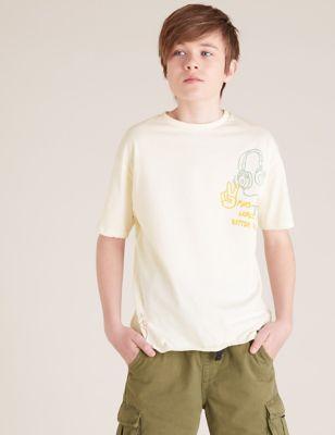 3pk Pure Cotton Graphic T-shirts (6-16 Yrs)