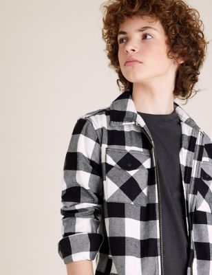 2pc Pure Cotton Check Shirt with T-Shirt (6-14 Yrs)