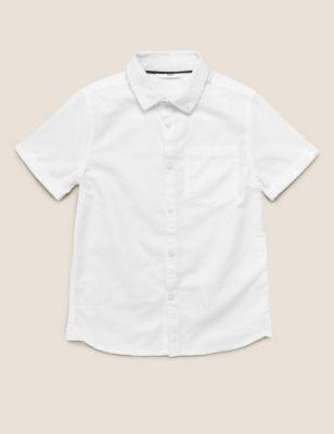 Pure Cotton Oxford Shirt (6-16 Yrs)