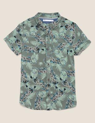 Tiger Print Shirt (6-16 Yrs)